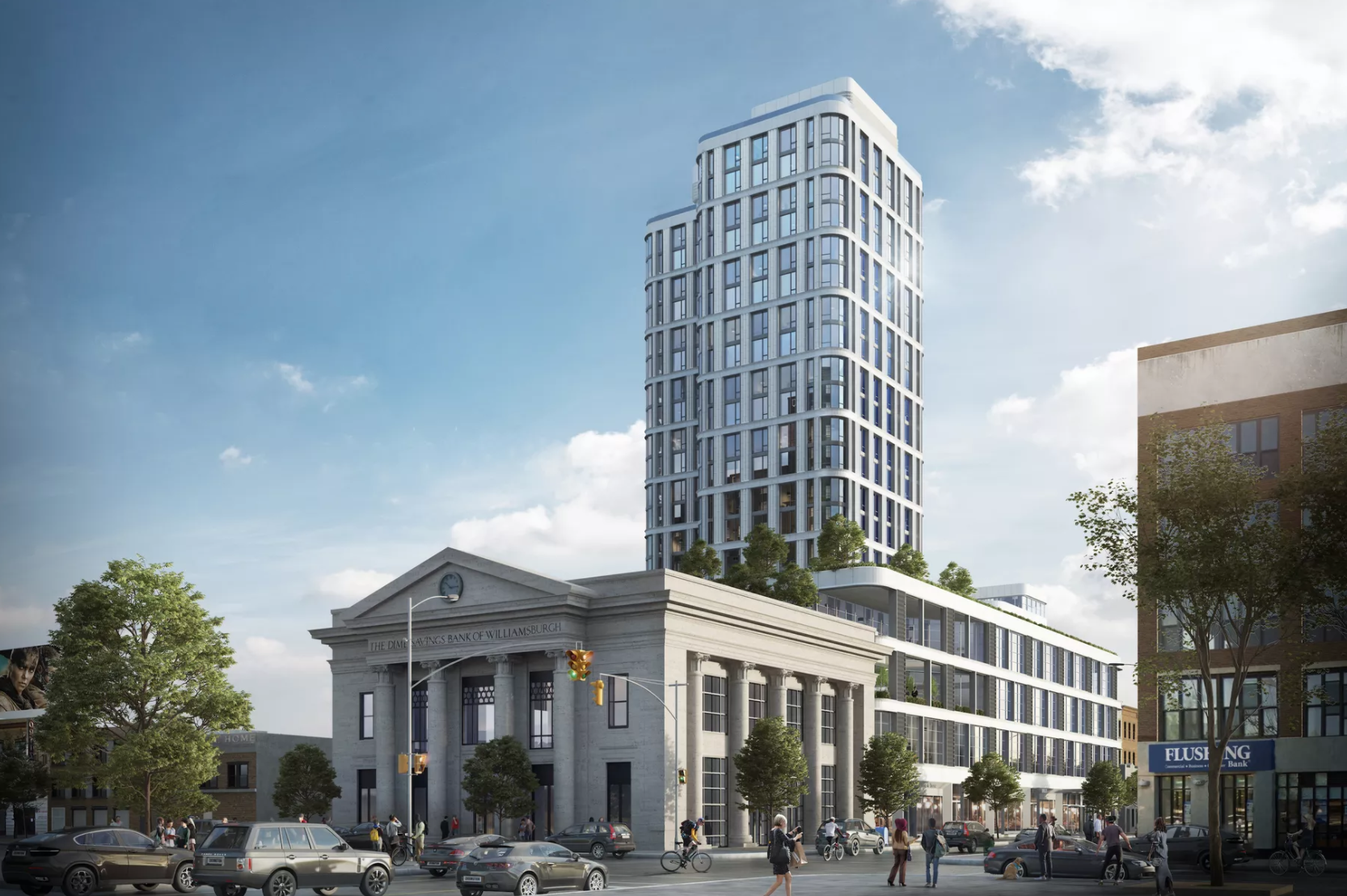 Foundation Work Begins On The Fogarty Finger Architects-Designed The Dime In Williamsburg