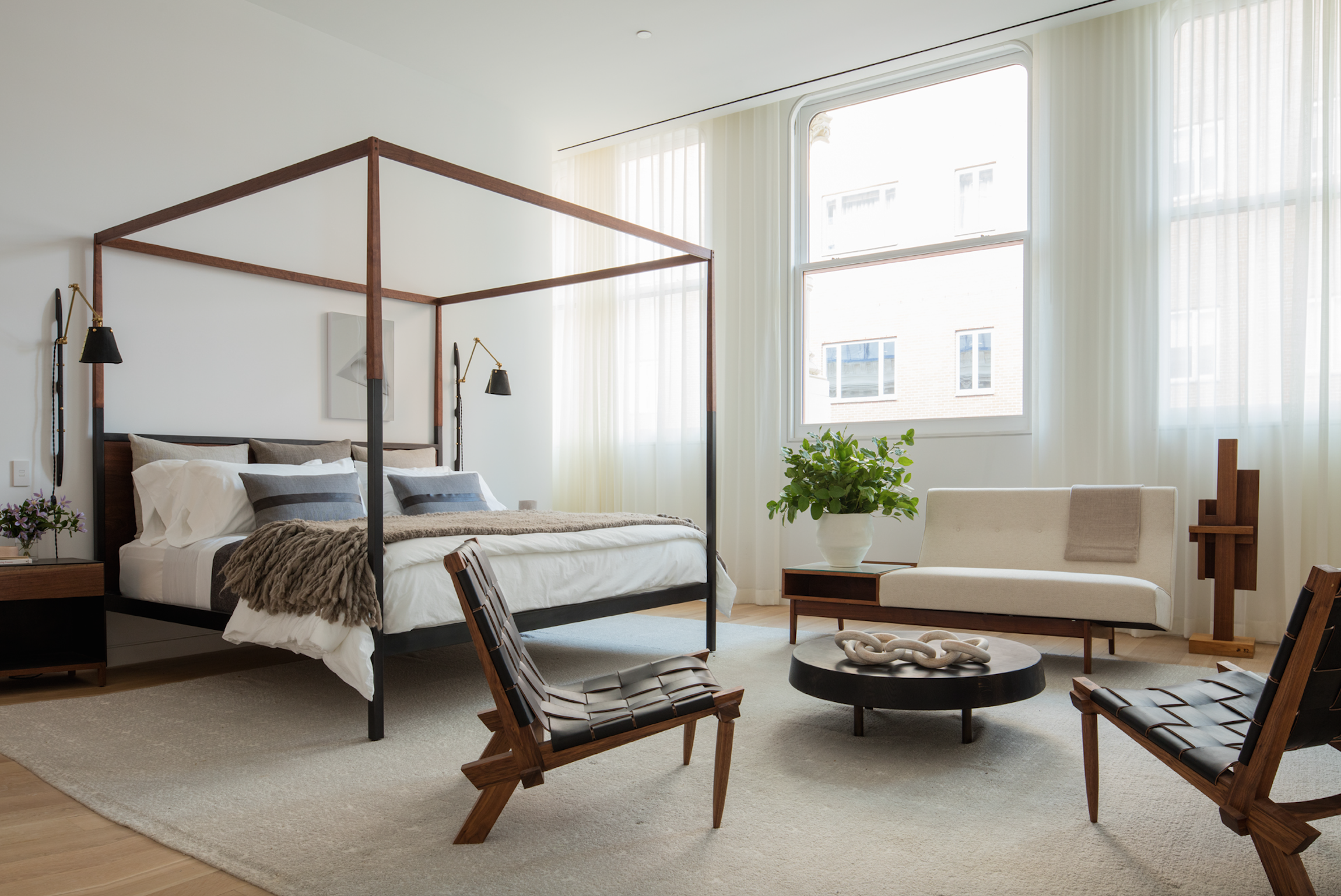 Tour This Absolutely Stunning Tribeca Penthouse Perched Atop The Shigeru Ban-Designed Cast Iron House