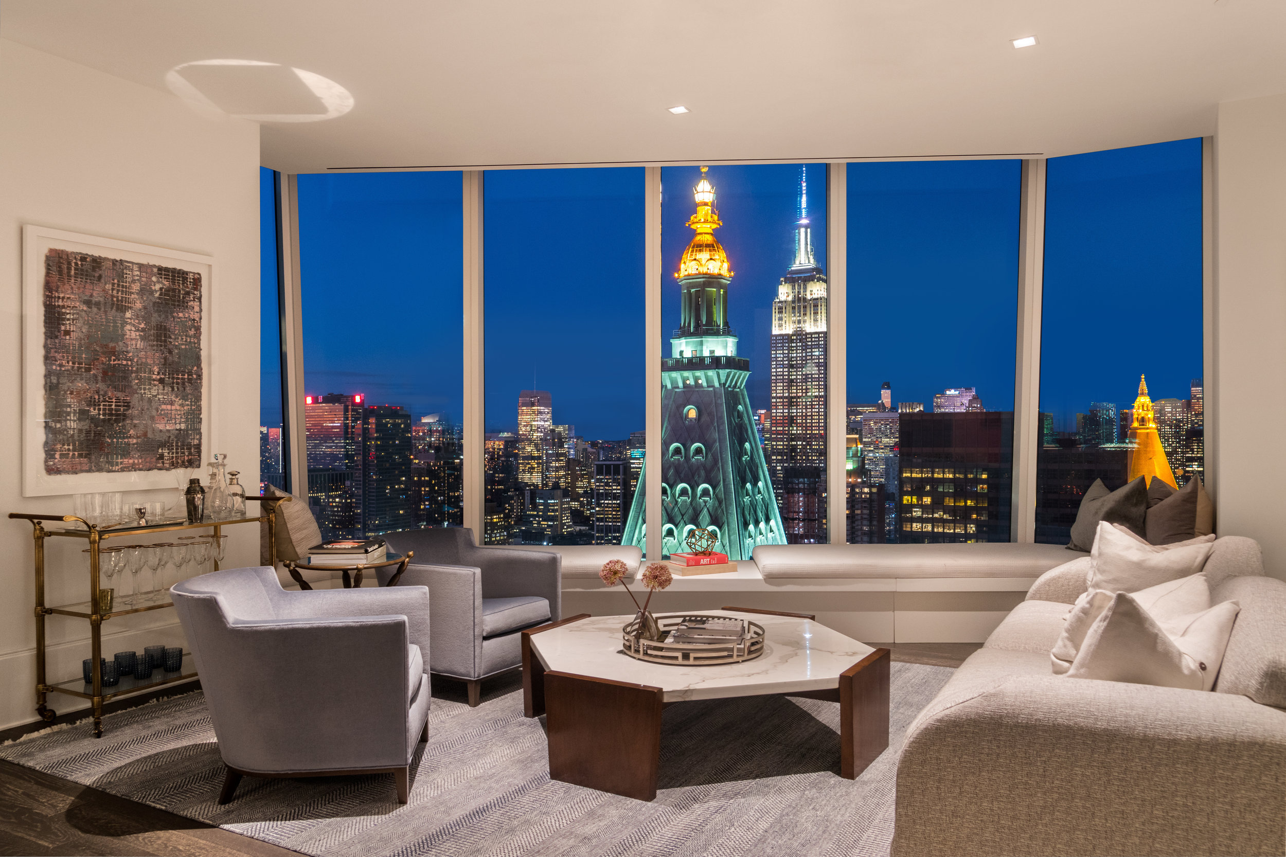 Madison Square Park Tower Reveals FIFTYFOUR, Their 54th Floor Private Resident's Lounge Designed by Martin Brudnizki Design Studio