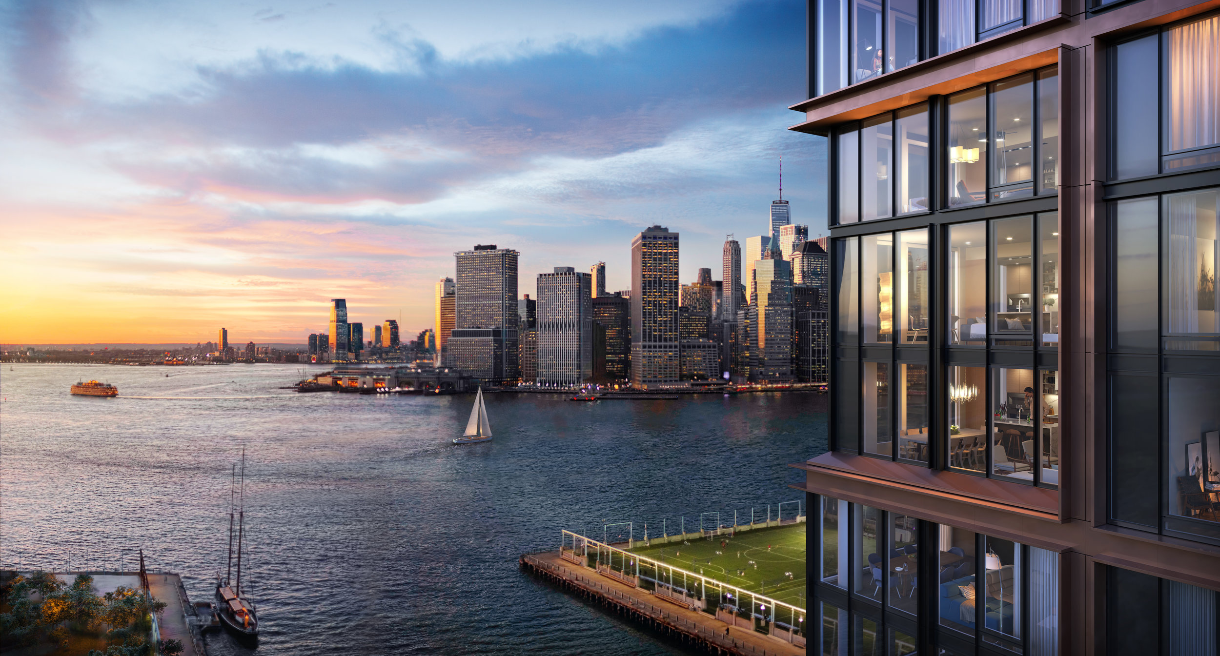 Get a First Look At The Newly Revealed Quay Tower at Pier 6 in Brooklyn Bridge Park
