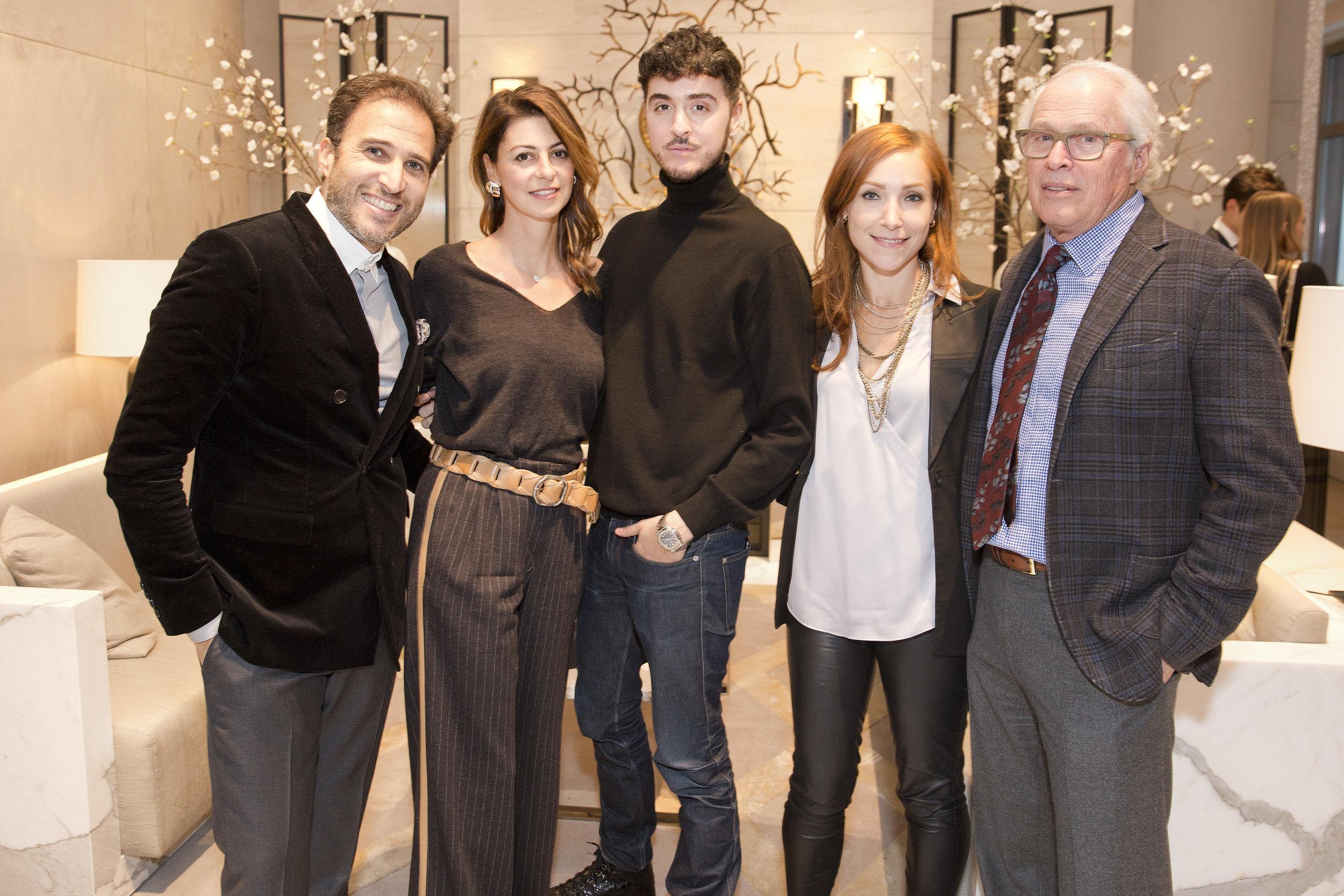 Raymond Chalmé (left),Ryan Korban (center), Sarah Burke (right center)