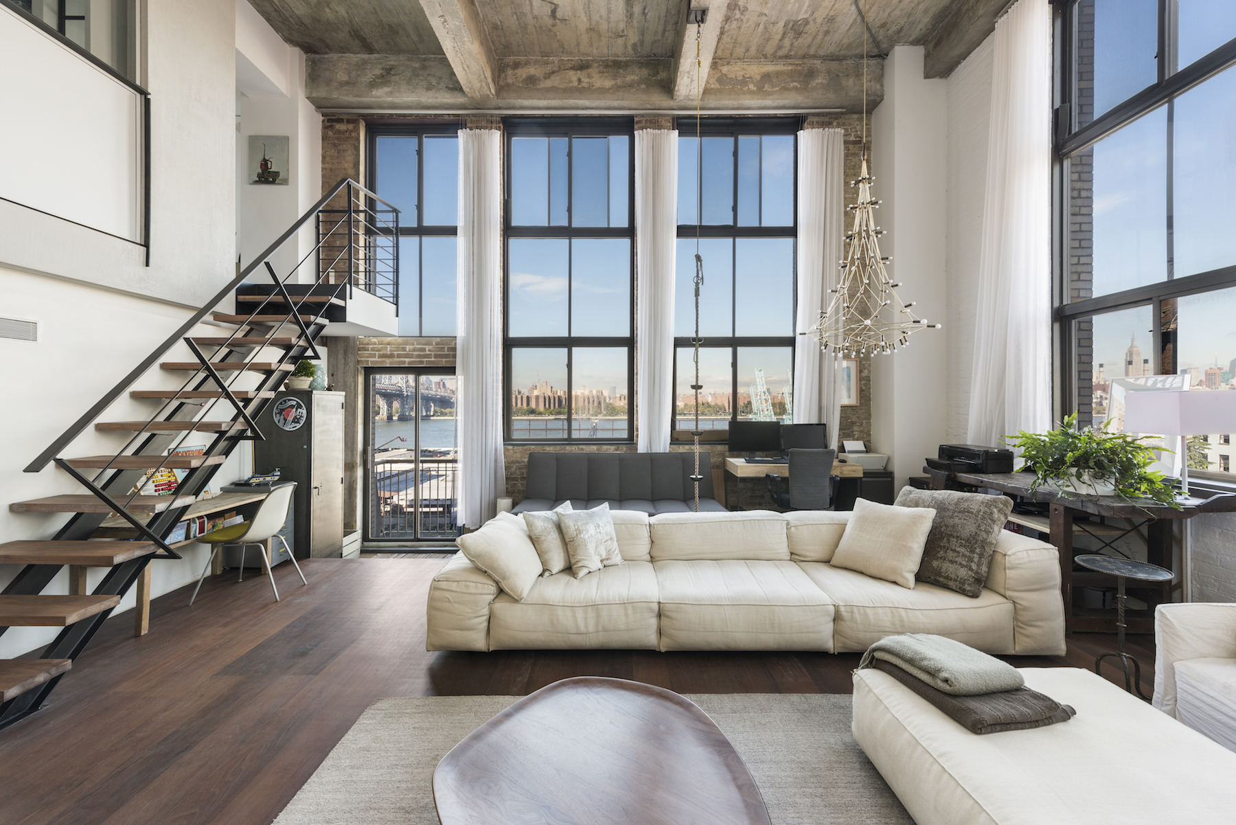 The Esquire Building, 330 Wythe Avenue, 3J was listed for $5,500,000 with Douglas Elliman