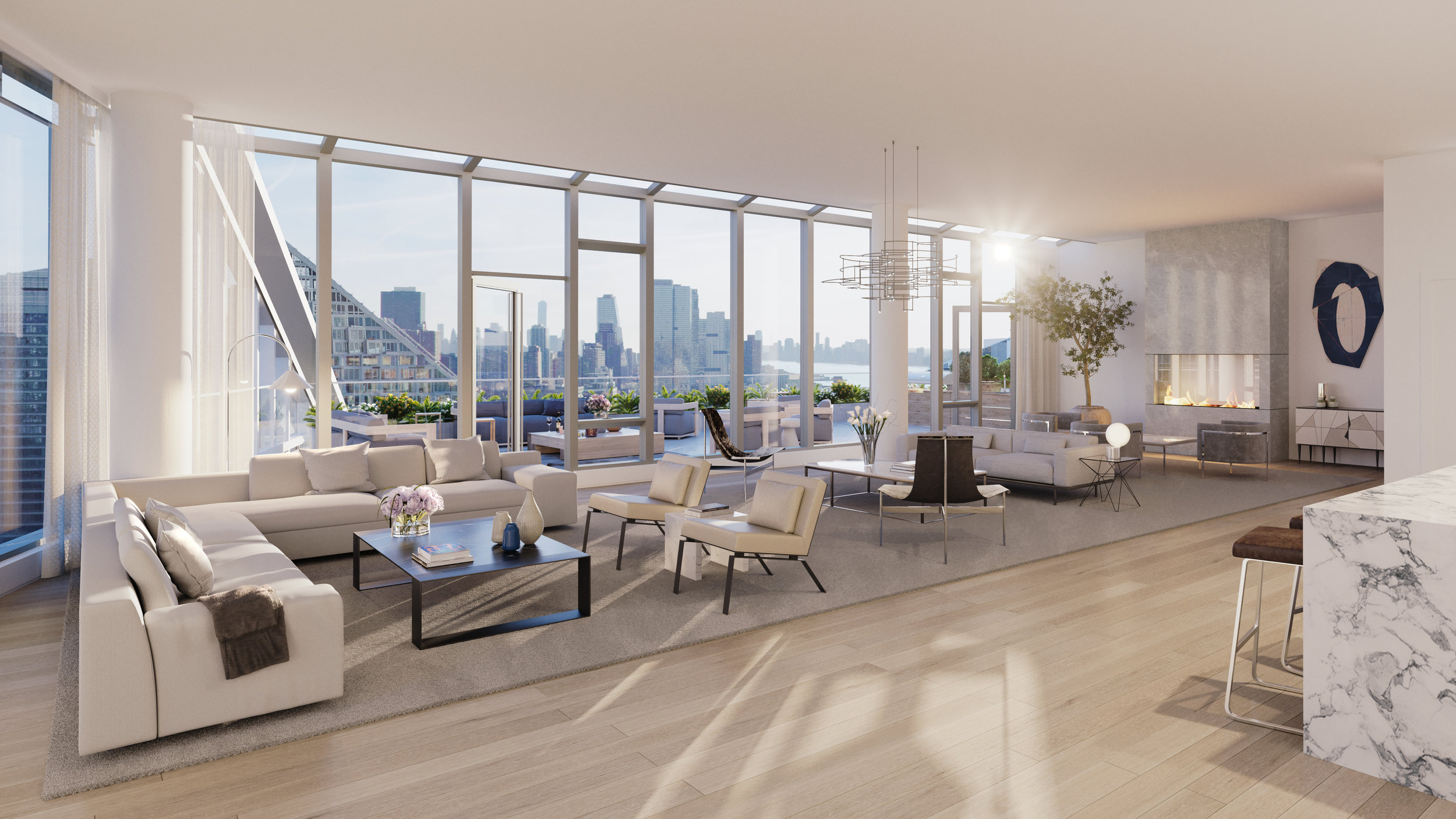 The First Penthouse At The Upper West Side's Waterline Square Revealed Asking $17.25