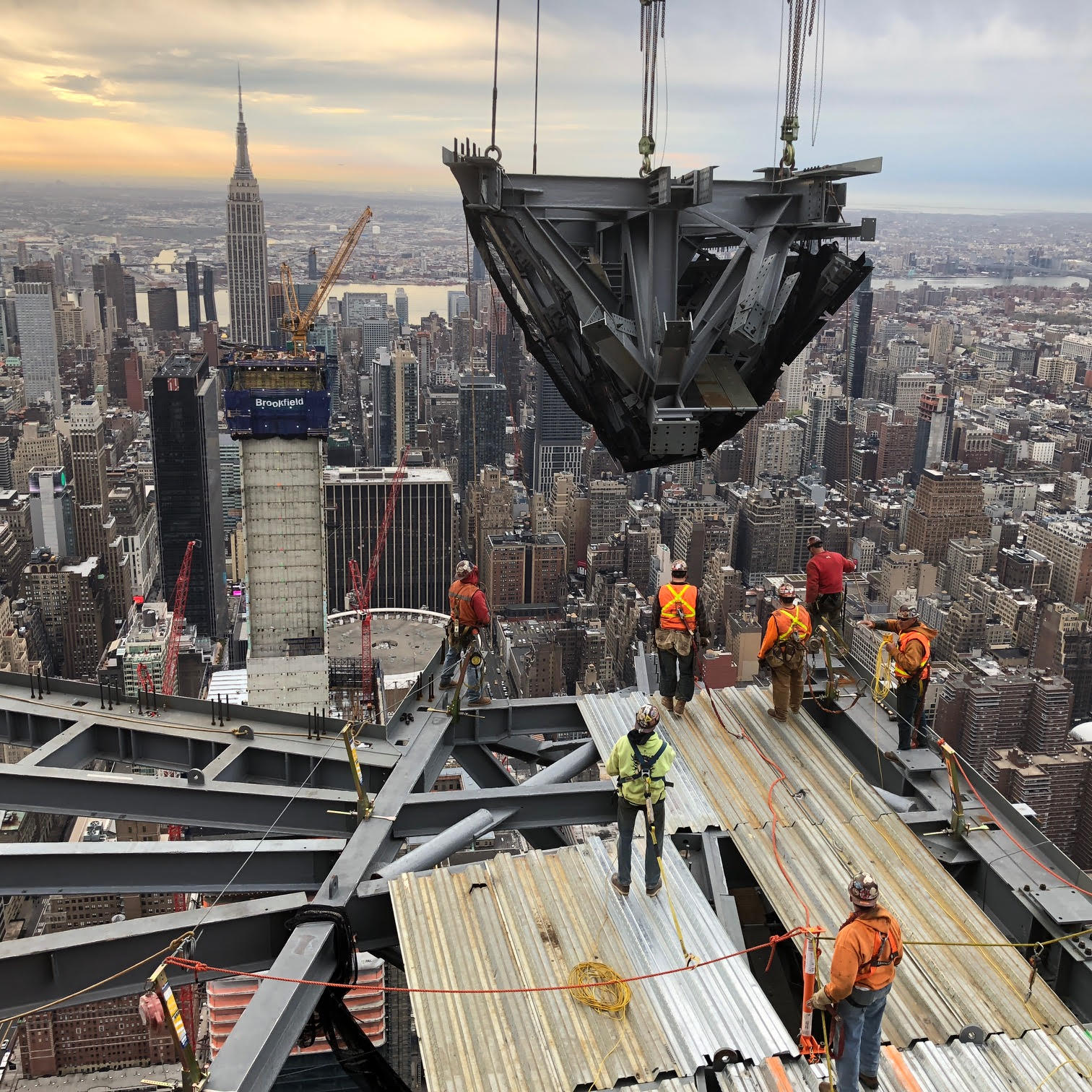 The Observation Deck is installed at 30 Hudson Yards