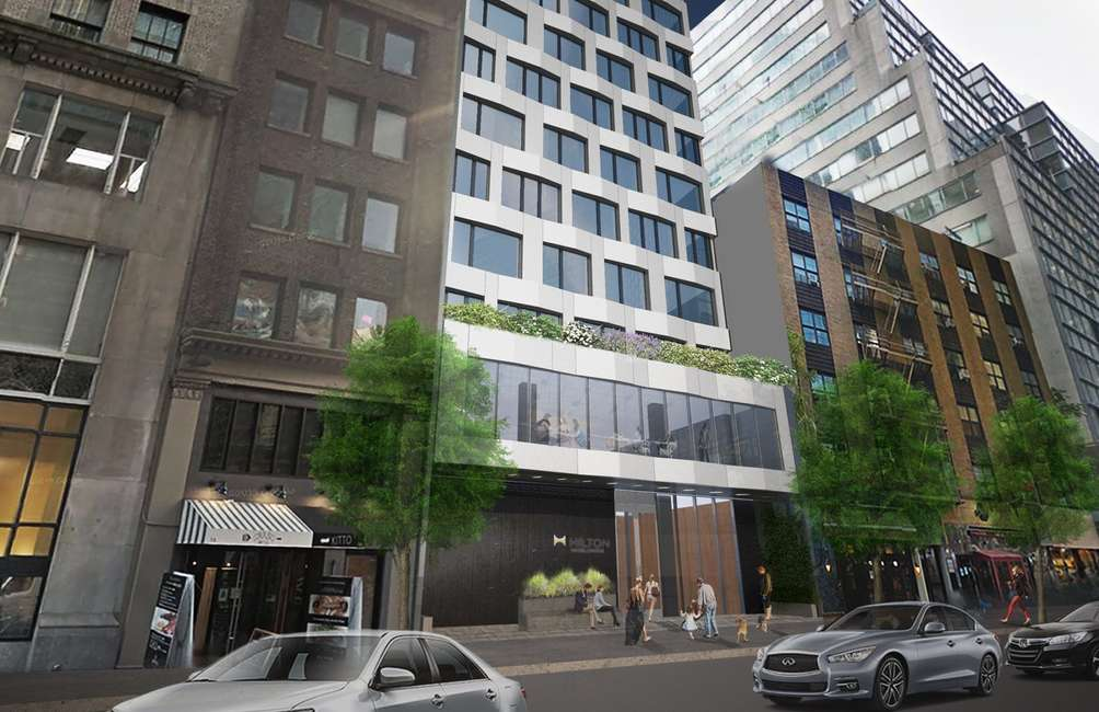 Facade Installation Begins At Handel Architects-Designed Hilton Hotel In Midtown East