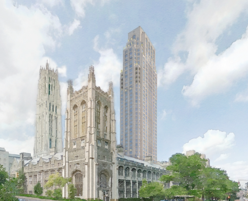 New Renderings Of The Robert A.M. Stern Architects-Designed Tower At 100 Claremont Avenue In Morningside Heights