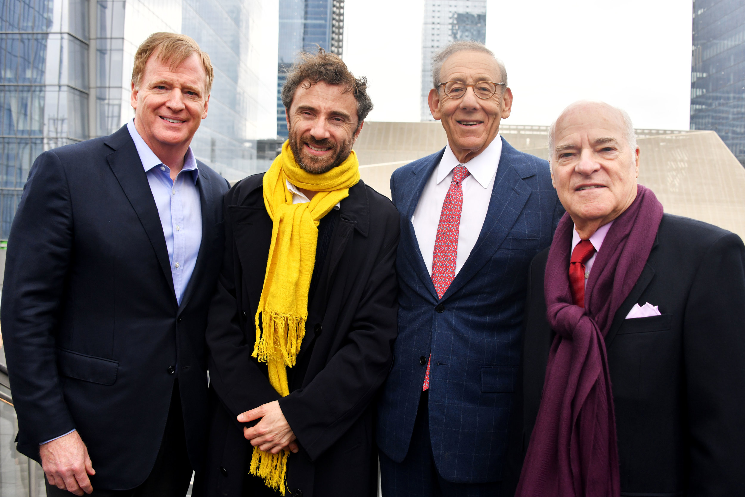 Roger Goodell, Thomas Heatherwick, Stephen Ross & Henry Kravis