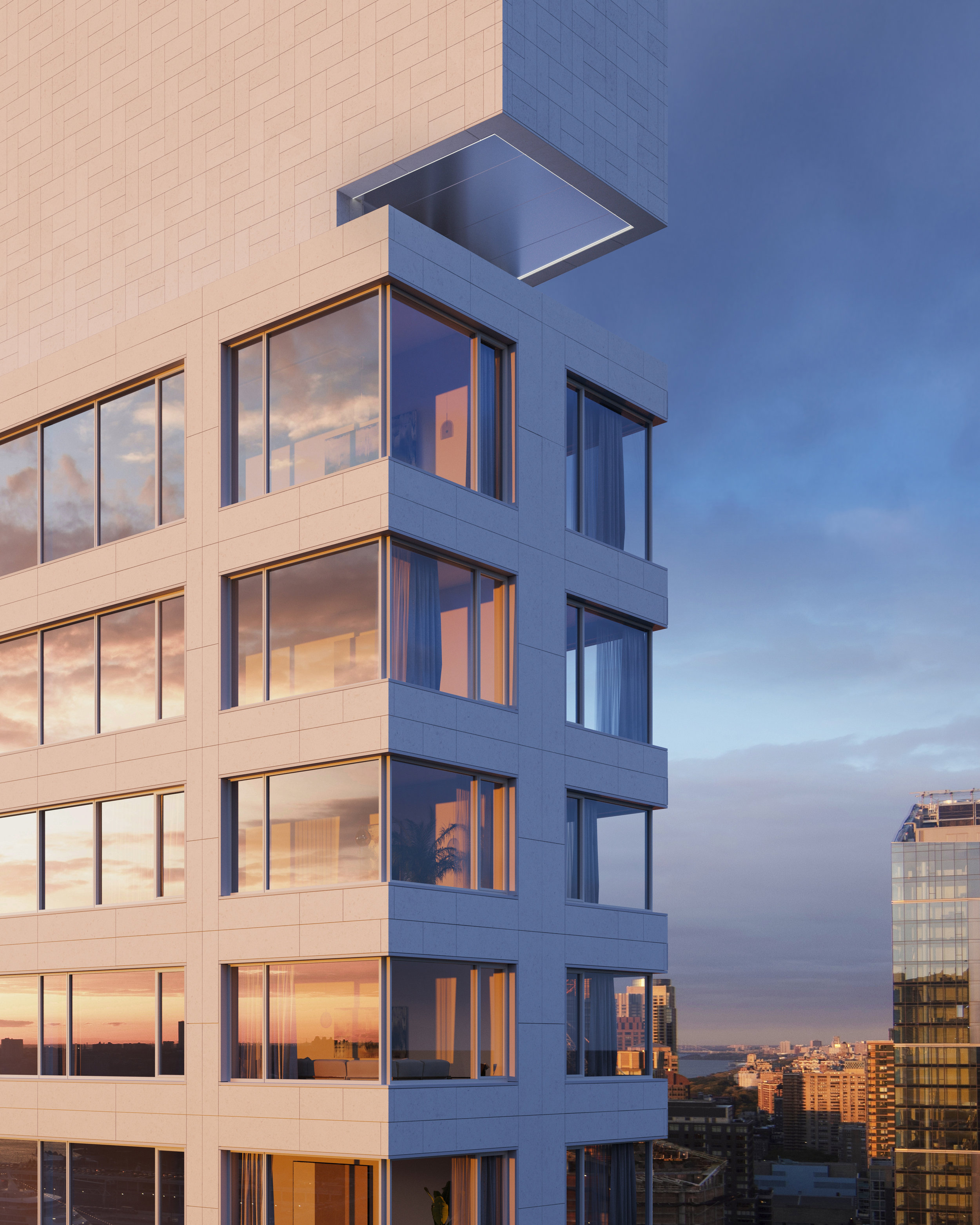 Alvaro Siza's First US Building, 611 West 56th Street, Reveals New Renderings
