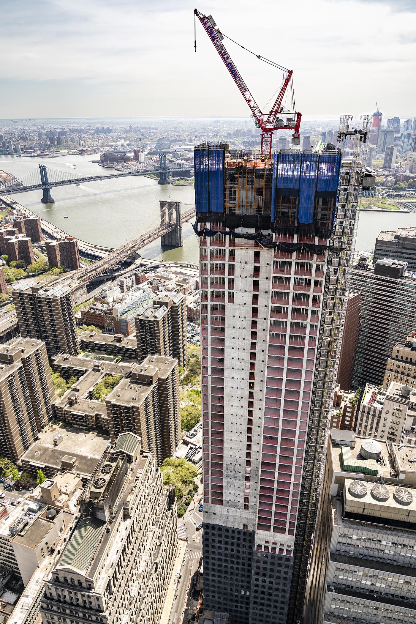 Sir David Adjaye's 130 William Tops Out In Lower Manhattan's Financial District
