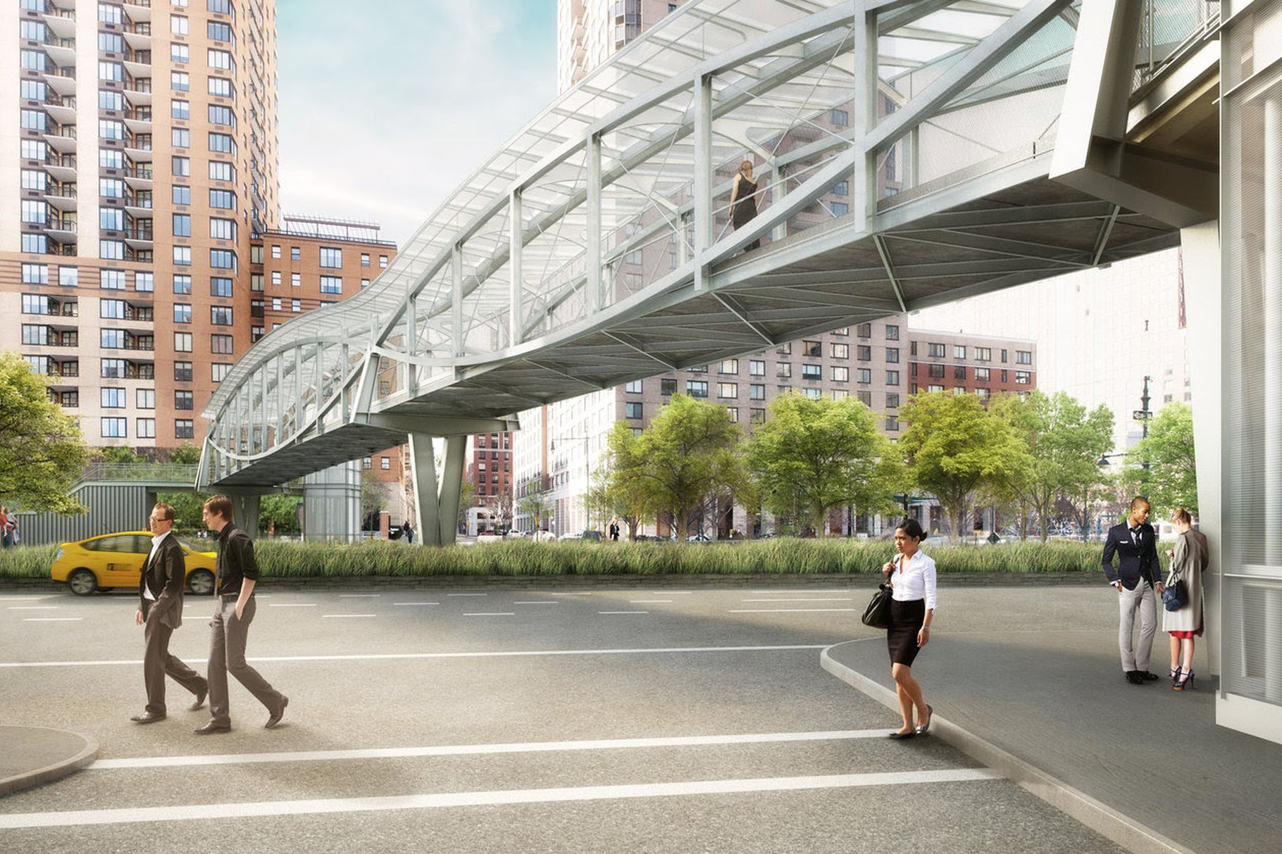 The WXY Architecture-Designed Robert R. Douglass Pedestrian Bridge In Lower Manhattan To Open Fall 2019