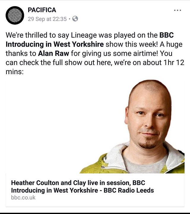 Lineage got its first ever radio play 😍. We know Instagram is fo' pics so if you want to keep up to date you can find us on the old FB too 🤓