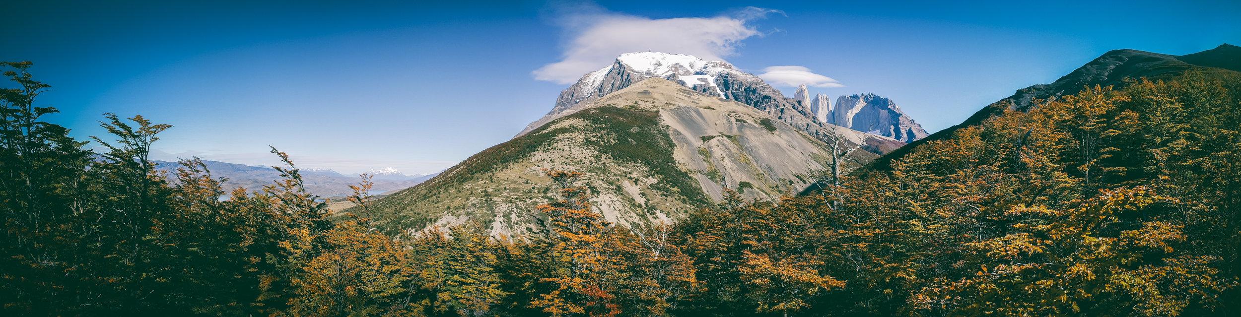 Panoramic view from Cerro Paine