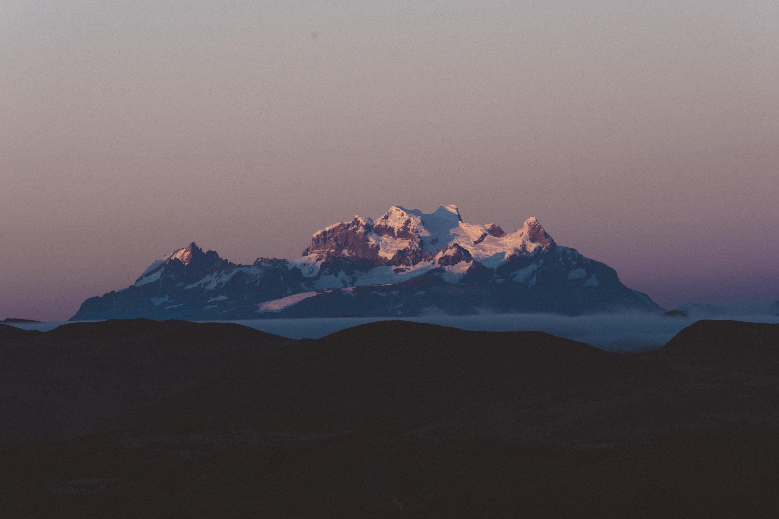 Sunrise on Cordillera del Paine