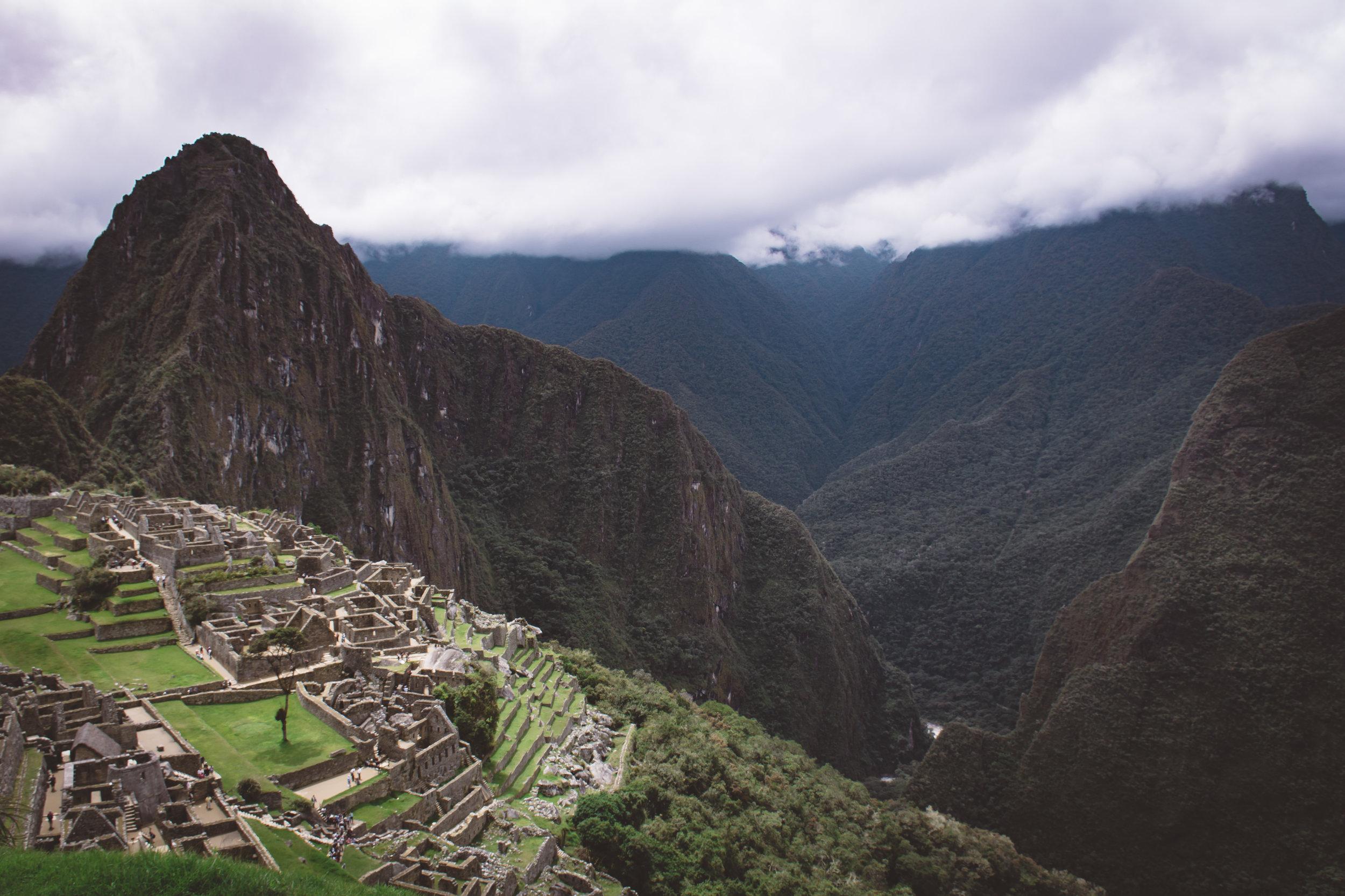 Macchu Picchu with a view of Huayna Picchu