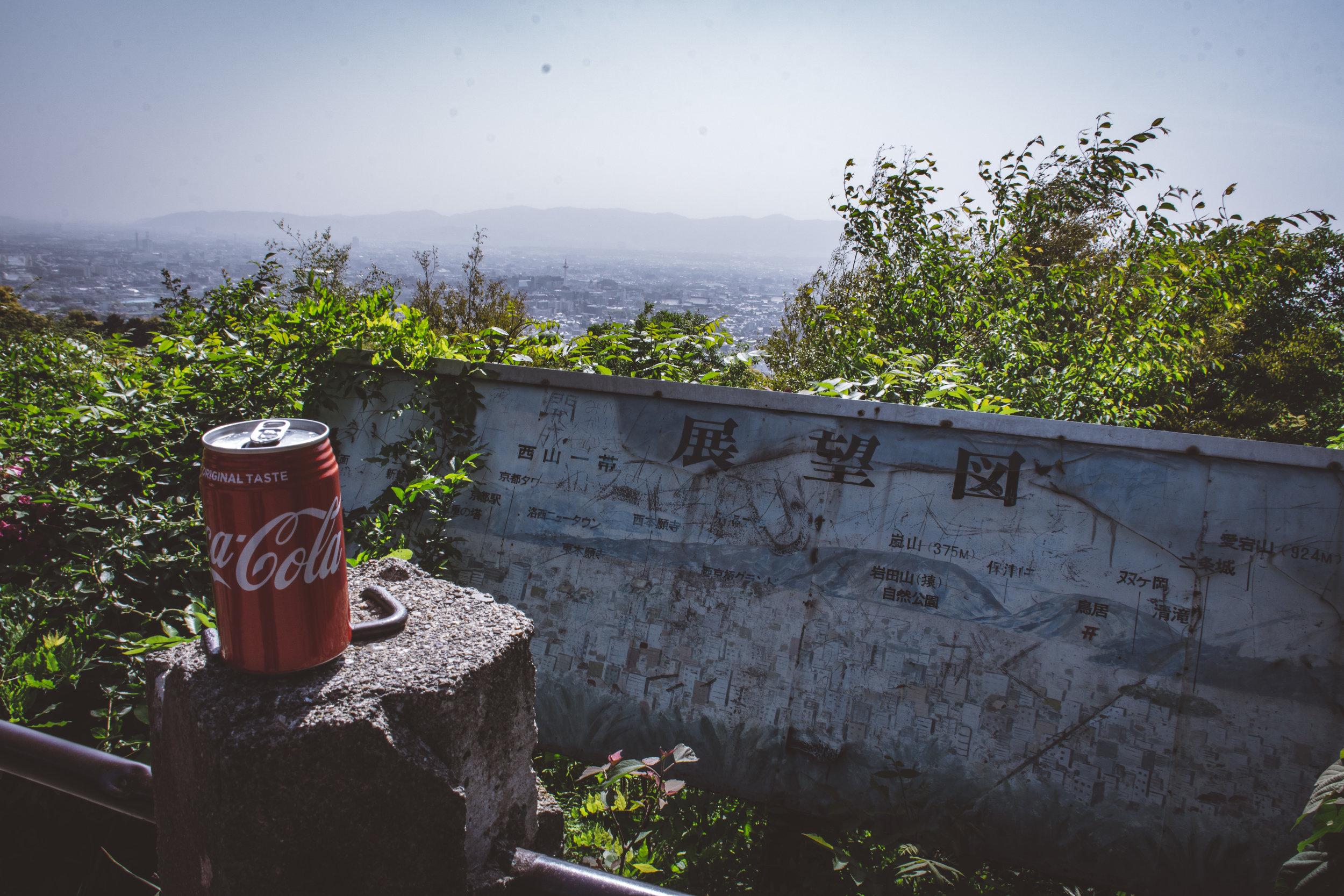 The actual viewpoint - The view from Higashiyama Sancho-koen
