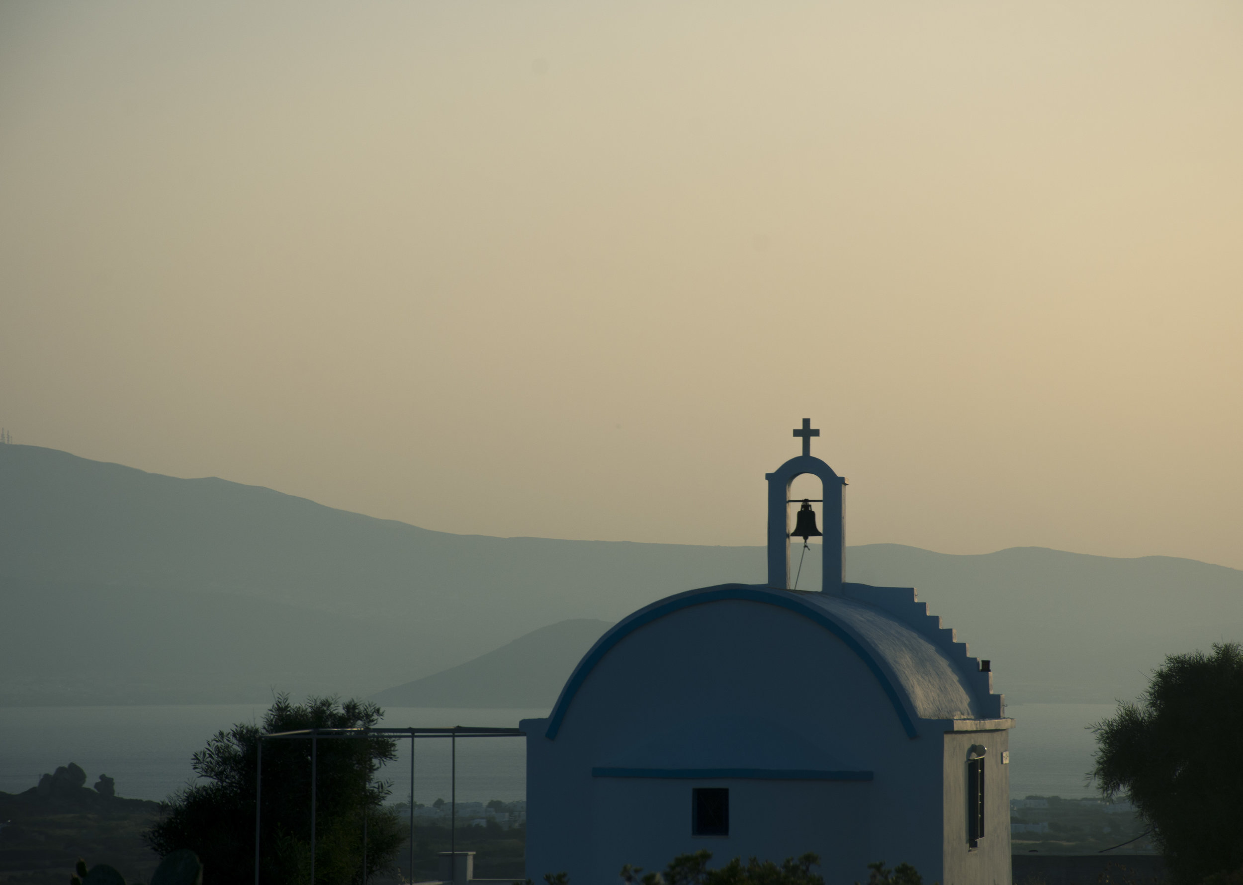 Sunsets and steeples - Beautiful little churches dot the Naxian coastline