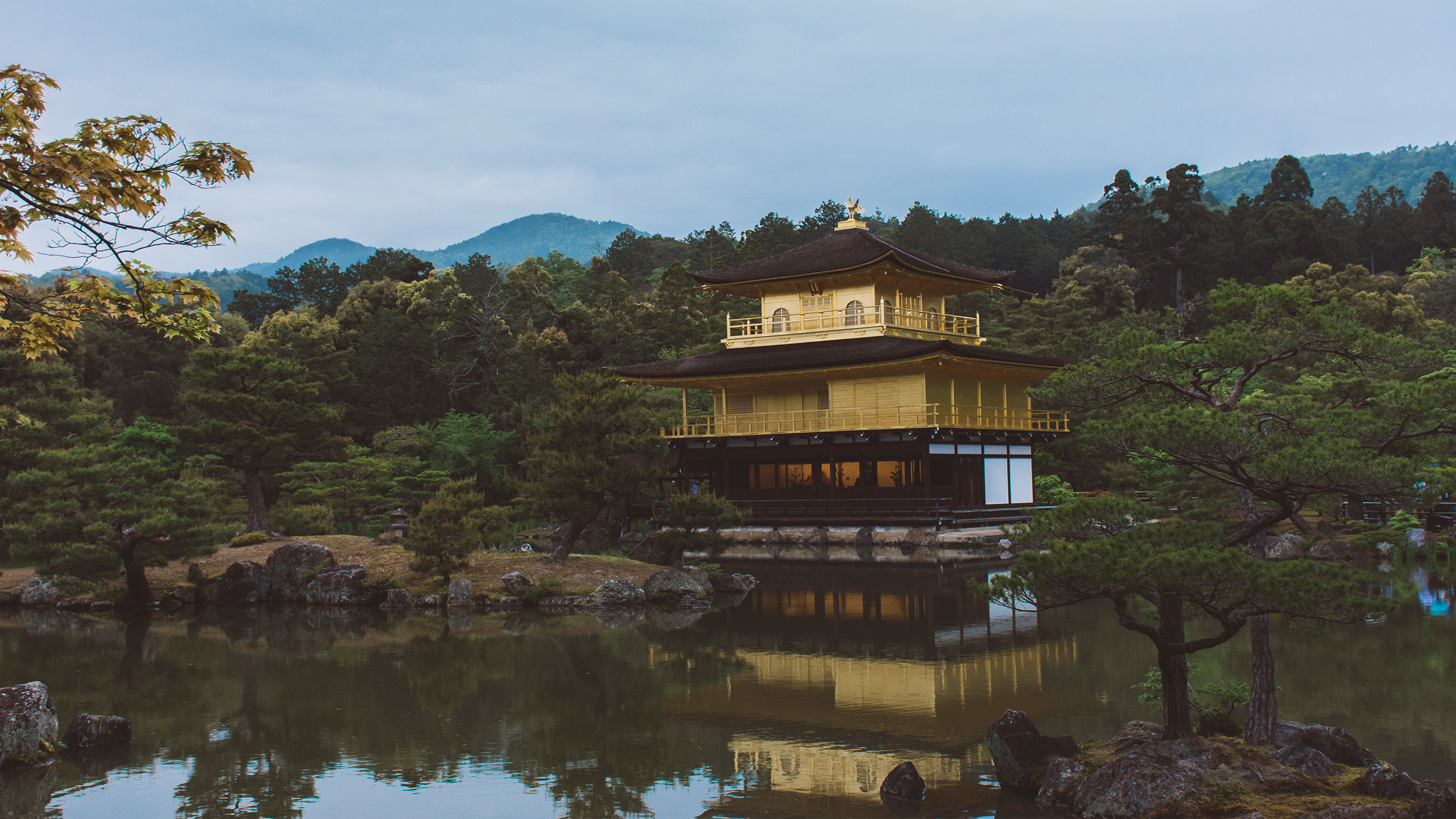 Kinkaku-ji. Kyoto. Go for the gold roof, stay for the lake.