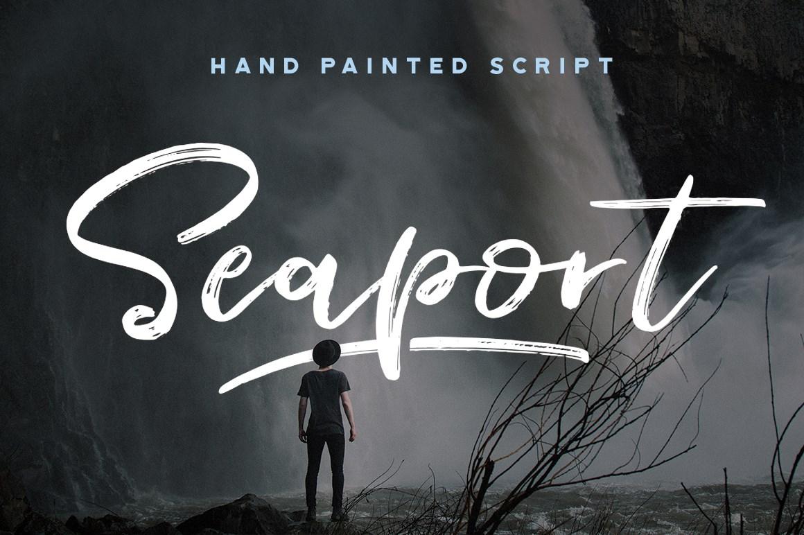 Seaport  - Hand painted script - $15
