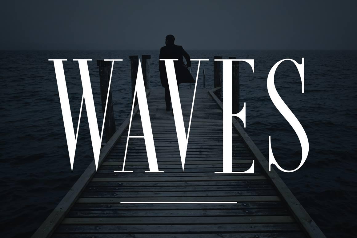 Waves  - Clean Serif -  $15