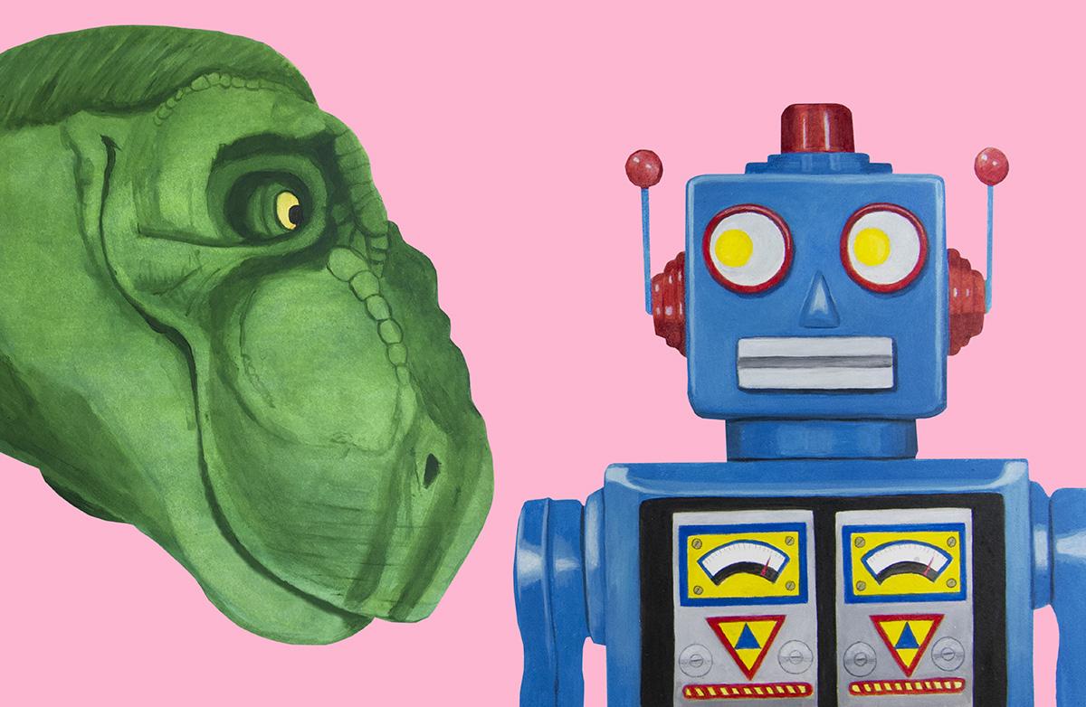 T-rex vs Robot