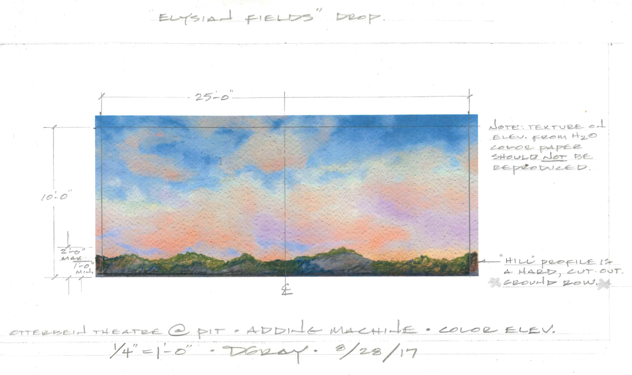 Backdrop paint elevation