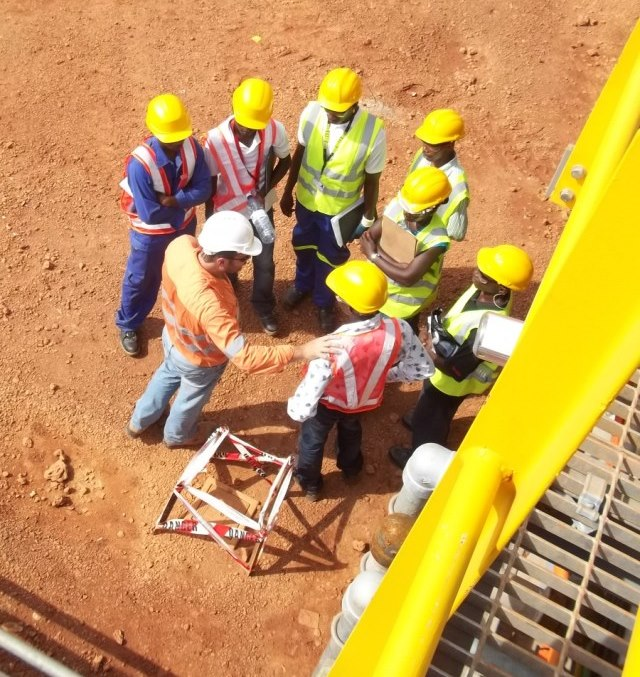 Workplace mentoring at Marampa Iron Ore Mine in Sierra Leone, West Africa