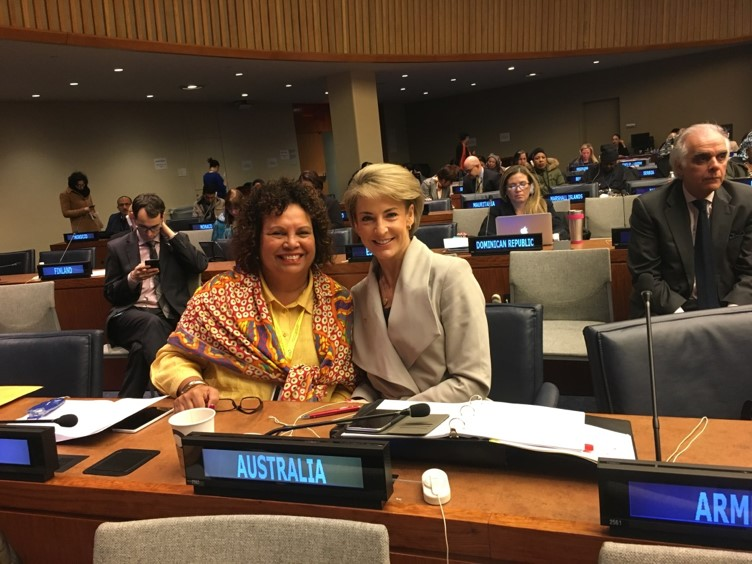 Leann Wilson and the Hon. Michaelia Cash – part of the Australian delegation to the 61st Session of the United Nations Commission on the Status of Women