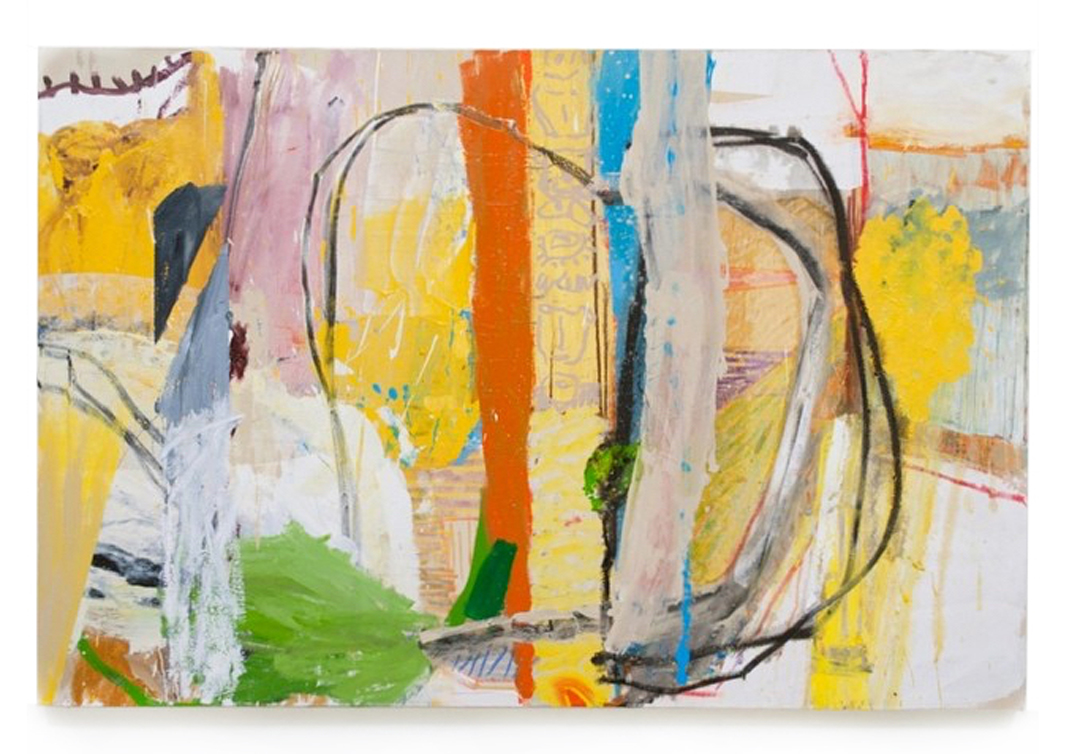 Daniel Herr  A Fisherman's Dream of Hot Plastic , 2013  oil, pastel, graphite on canvas 70 x 60 inches (250 x 190 cm)  DH25