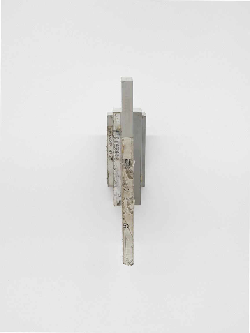 Chadwick Rantanen Crux Simplex , 2019 Aluminum cutoffs, steel 10 7/8× 2 5/8 × 7 1/2 inches (28 × 7 × 19 cm) CR2 (CR1736)