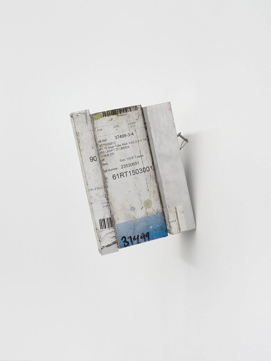 Chadwick Rantanen Crux Simplex , 2019 Aluminum cutoffs, steel 8 3/8×3×7 1/2 inches (21 × 8 ×19 cm) CR2 (CR1735)