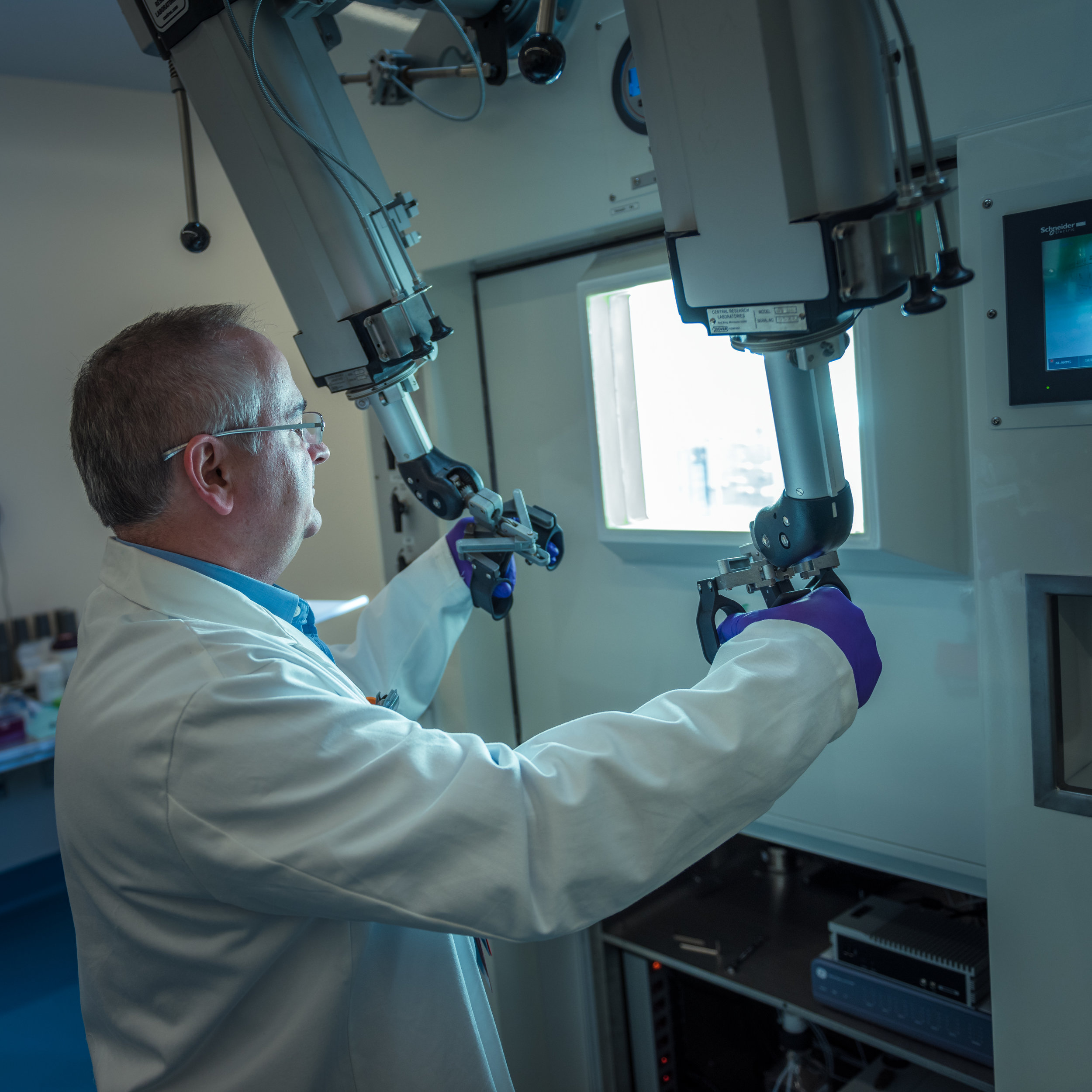 Robotic controls at a Molecular Cancer Imaging Facility