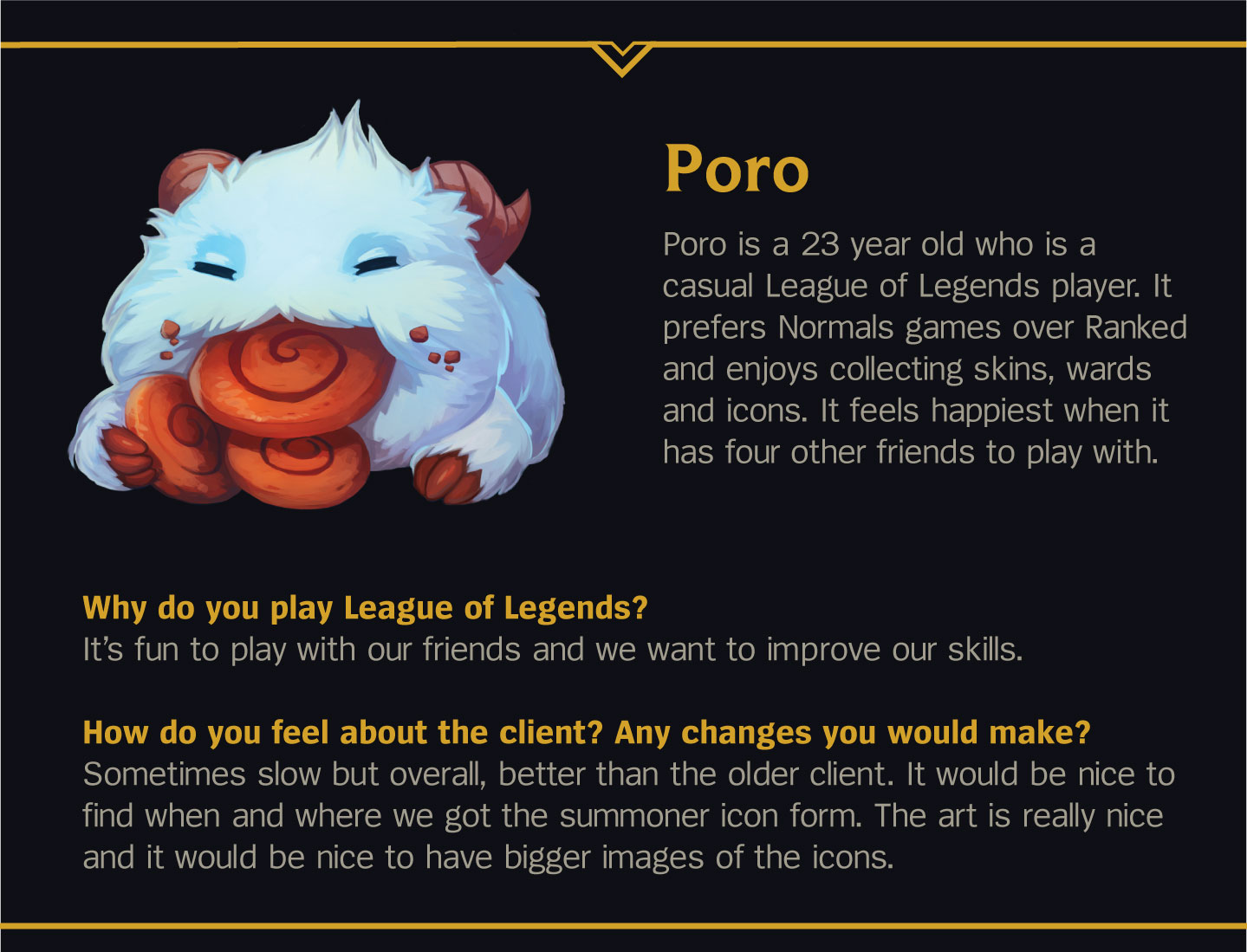 Poro illustration from Riot Games