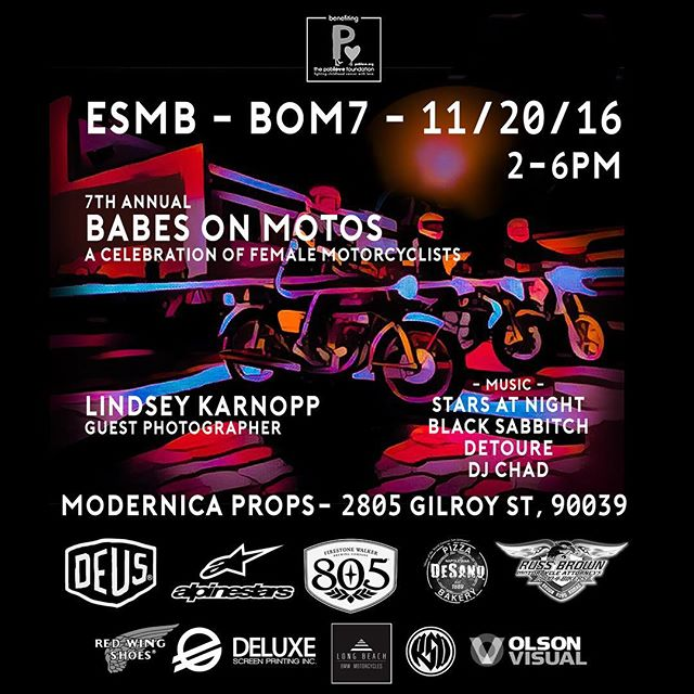 This Sunday check out the 7th annual babes on Moto's hosted by @eastsidemotobabes ! ❤️💕 #bom7