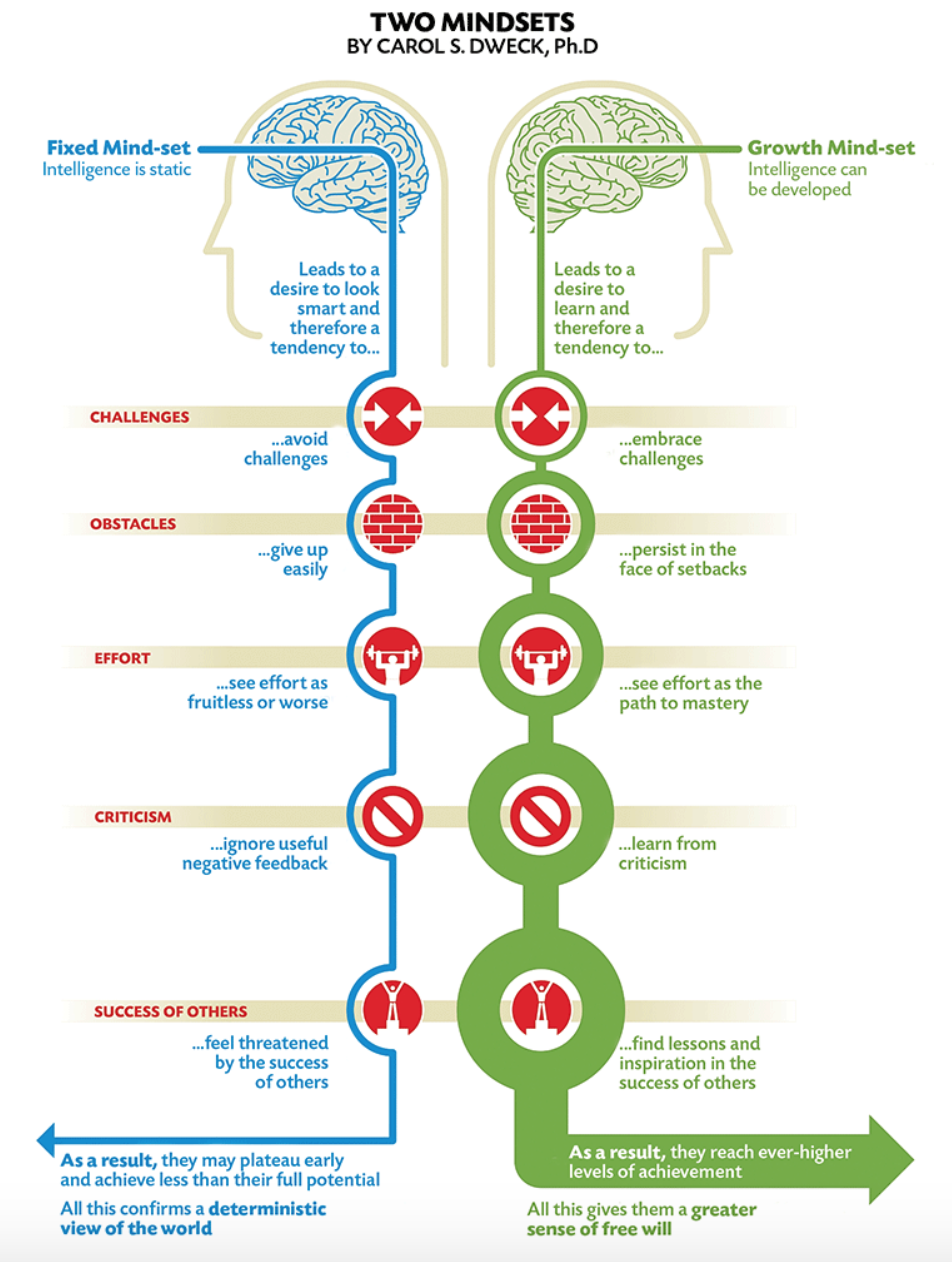 #2 Growth Mindset. - Having done decades of research on what drives motivation, achievement and successin education, sports and business, Stanford Psychology Professor, Carol S Dweck Ph.D is considered the pre eminent authority on how we can not only coach but more effectively teach our children to be more resilient, gritty and willing to work for long-term goals.