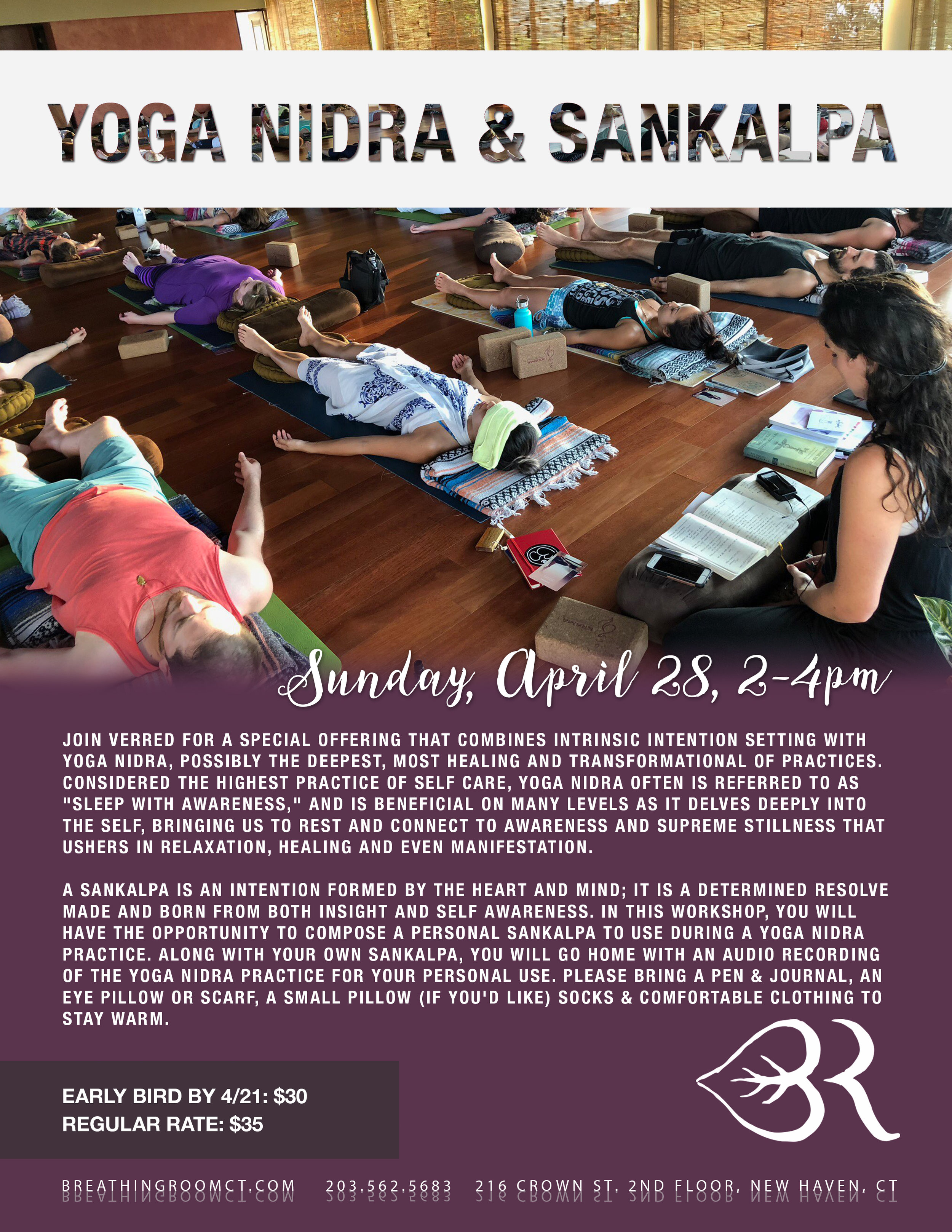 Yoga Nidra & Sankalpa - Join me on Sunday, April 28th at 2pm for a special offering that combines intrinsic intention setting with Yoga Nidra.