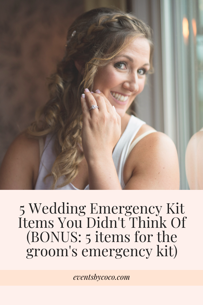 5 Wedding Emergency Kit Items You Didn't Think Of (BONUS_ 5 items for the groom's emergency kit)