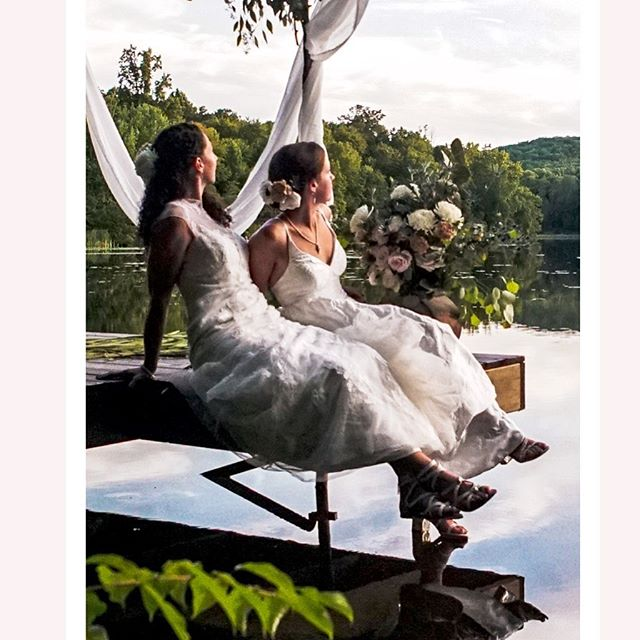 A wedding on a lake in a beautiful house was incredible. But the love these two shared, priceless. . . .  Image by @_alyssaneece_ @groundedny #hudsonvalleywedding #hvbride #weddingdress #lakewedding #carmelny #lakehouse #weddingonalake #rusticwedding #weddingwednesday #brides #weddingphotography