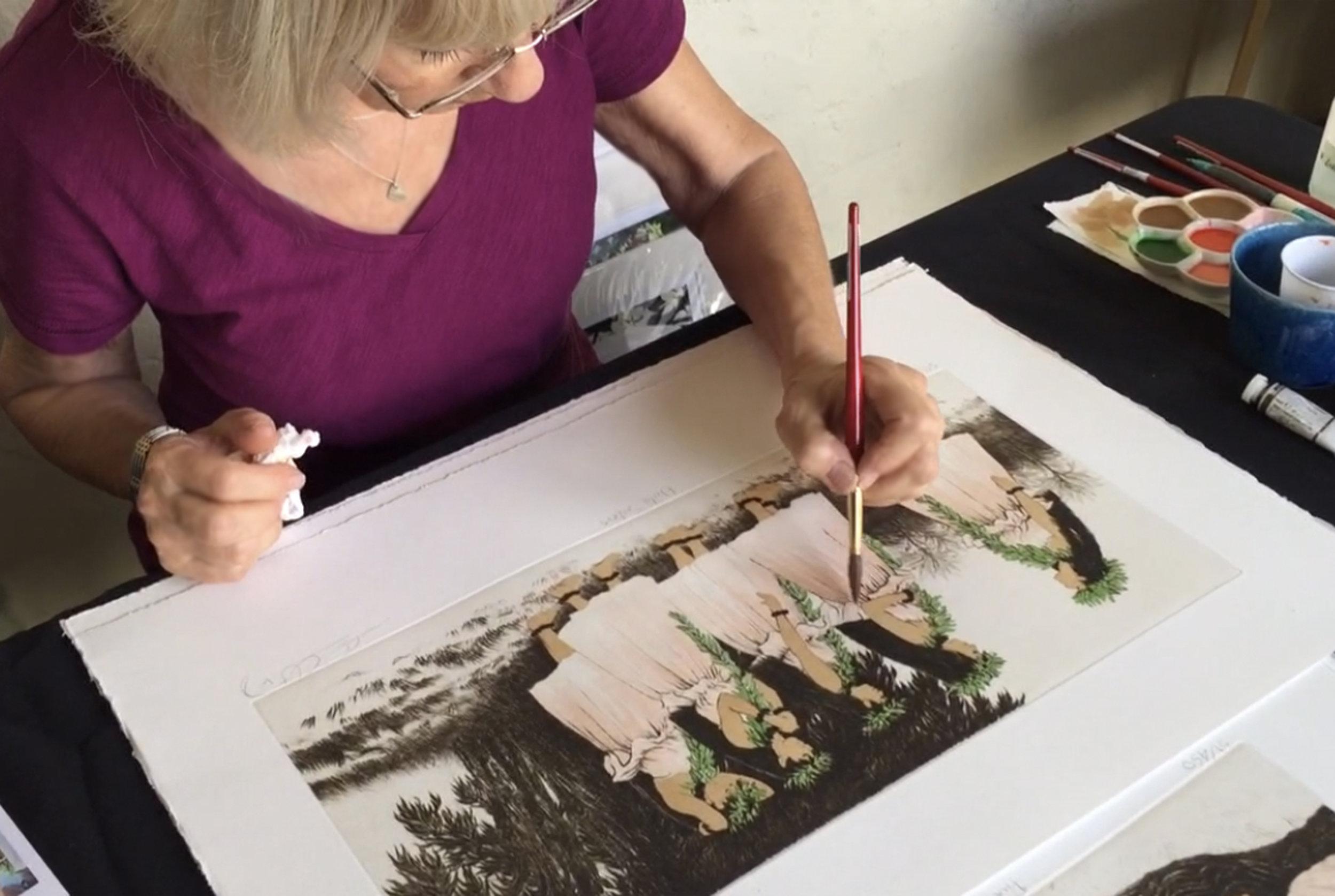 3. Carol watercolor painting Hula Sisters.jpeg