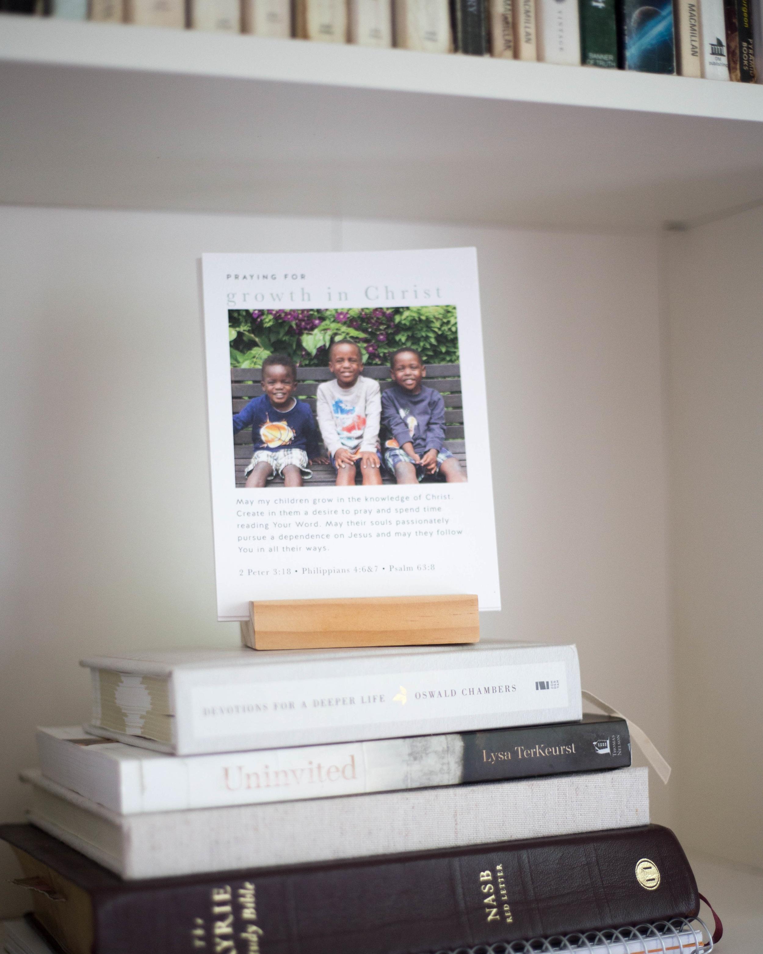 Personalized Prayer Cards by Backgate Prayers