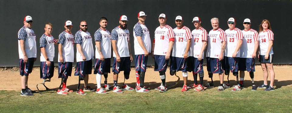 Wounded Warriors Amputee Softball Team in Bedford, Virginia