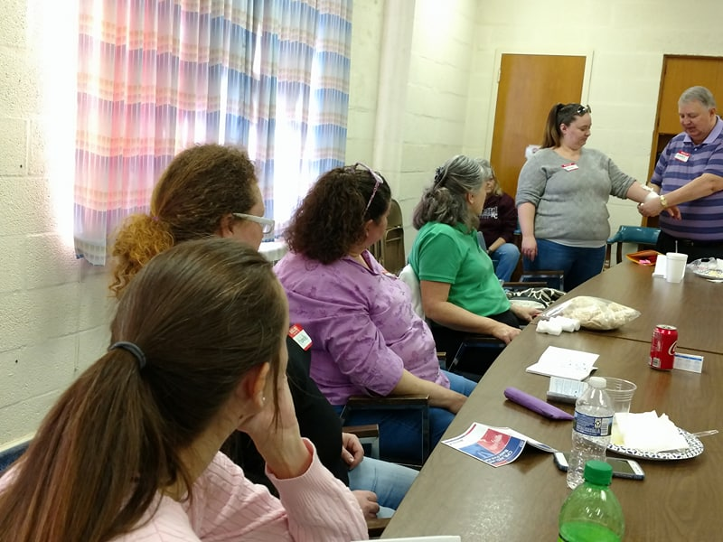 Companion Home Care Inc caregivers at CPR and First Aid training in Roanoke, VA