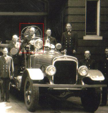 FDR at Fire Station No. 1 in Roanoke, VA circa 1940. Source: RoanokeFire.com