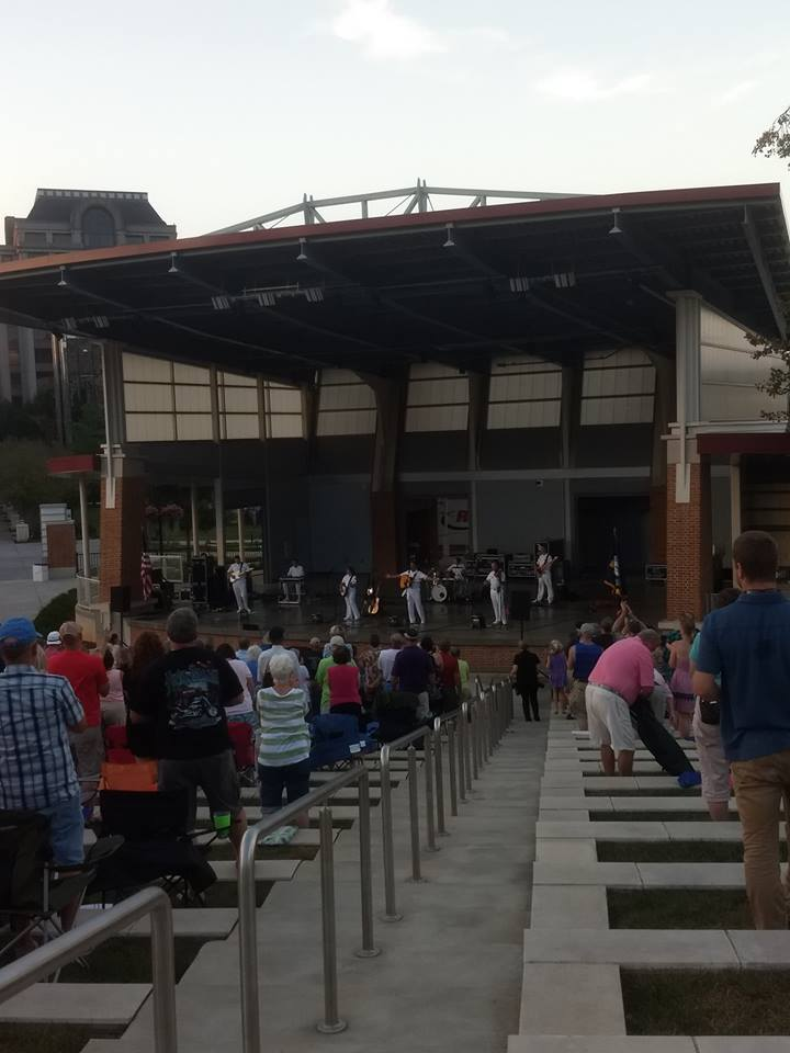 US Navy Band's Country Current group performing at Elmwood Park in Roanoke, VA