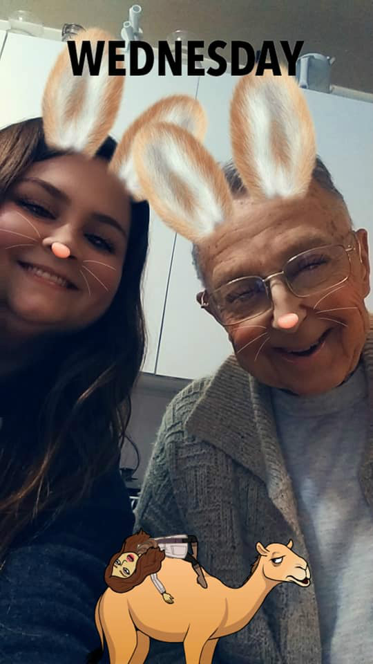 caregiver with snapchat filter - home care for alzheimers and dementia - companion home care inc.jpg
