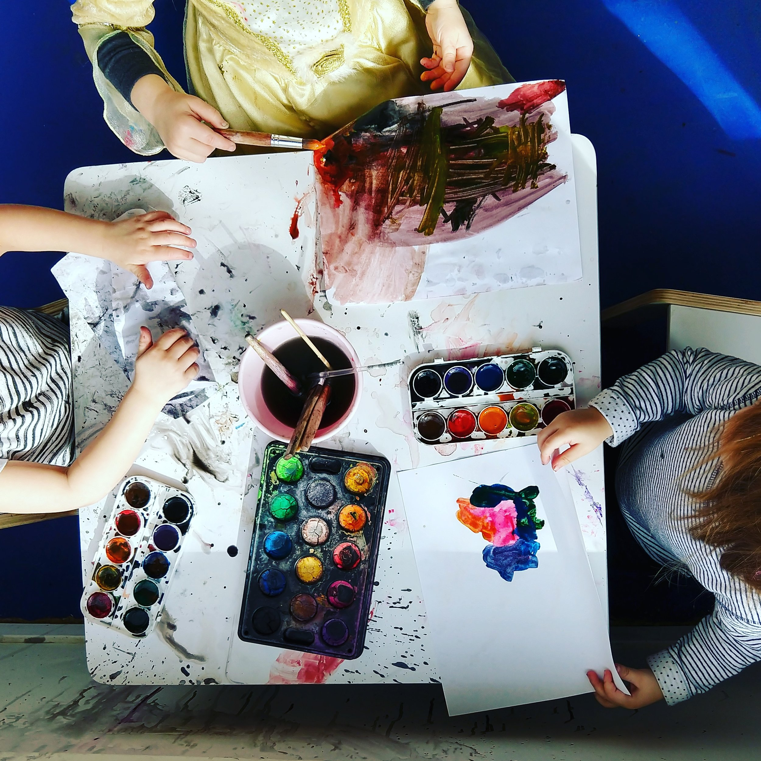 Our painting table is a favorite spot for many of our kids!