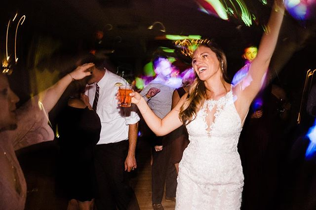 If you're throwing a party on your wedding day you better be on the dance floor.