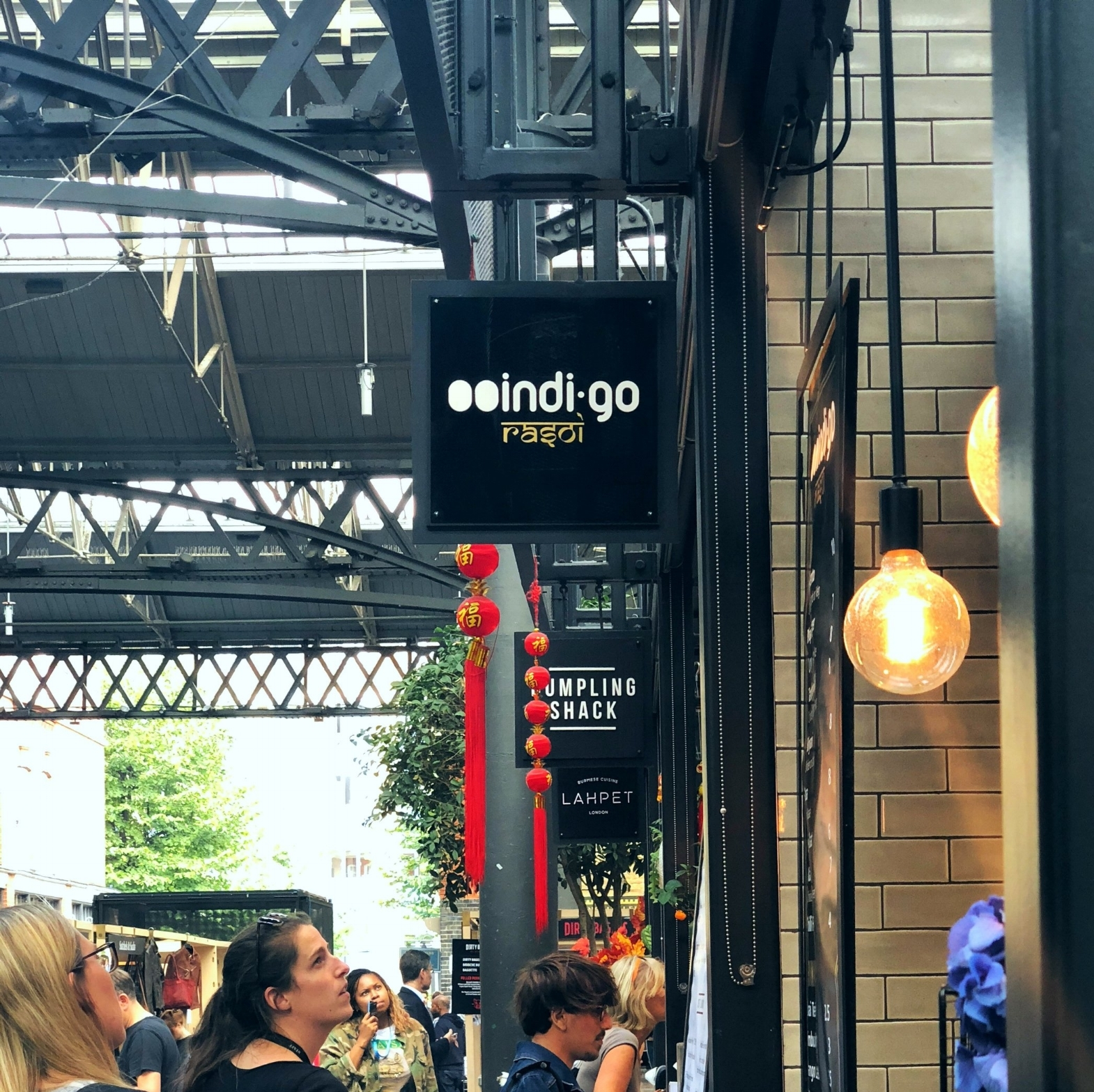 Indigo: One of the countless food kiosks in Spitalfields Market. The food was a 10 out of 10