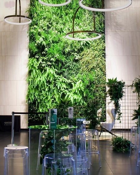 LUSH 🌿 How stunning is this lobby we recently had the pleasure of styling the launch for? Featuring modern greenery inspired cocktail tables and a statement gold wire and greenery installation to complete this look! . . . . . . @creative.kiwa . . . . #eventdesign #greenerydecor #brisbaneeventhire #cocktailstyle #brisbaneeventstyling #brisbaneevents #eventdecor #styleinspo #corporateevent #corporateeventstyling #eventstylist #greenerywall #greenerywedding