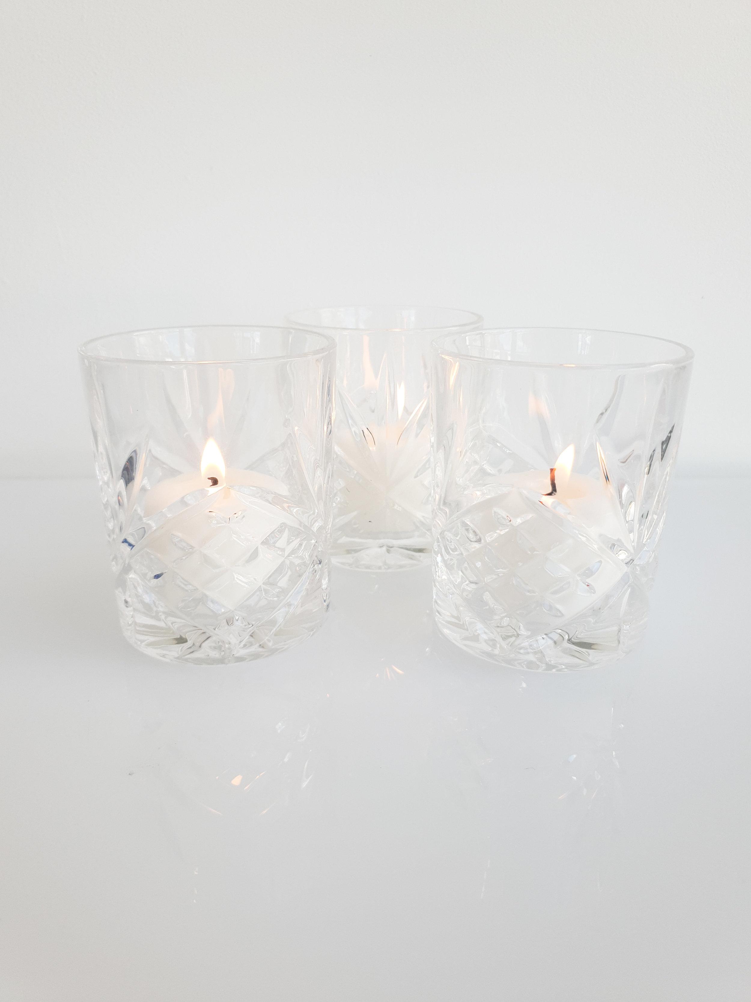CUT GLASS VOTIVE  $2+GST