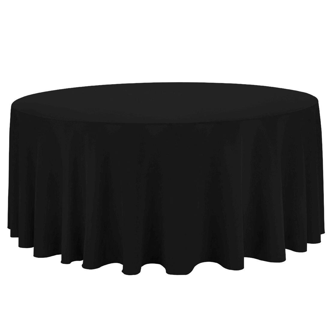 BLACK LINEN ROUND TABLECLOTH (3.3 M DIA.)  $20+GST